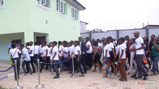 Teens on a tour of the InnerCity Mission School