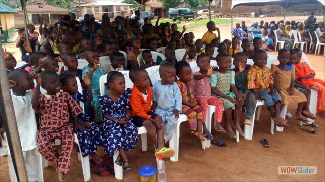 Some of the Kids Waiting To Receive Their School Kits