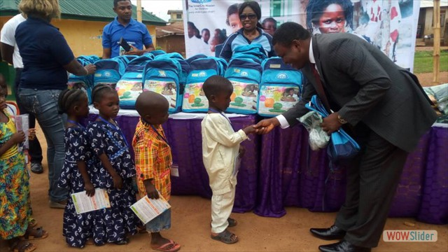 The Kids Receive Their New School Kits