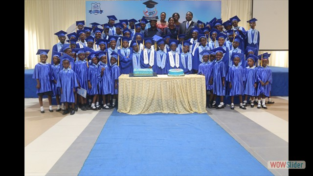 Graduating Pupils With Dignitaries Present At The Event